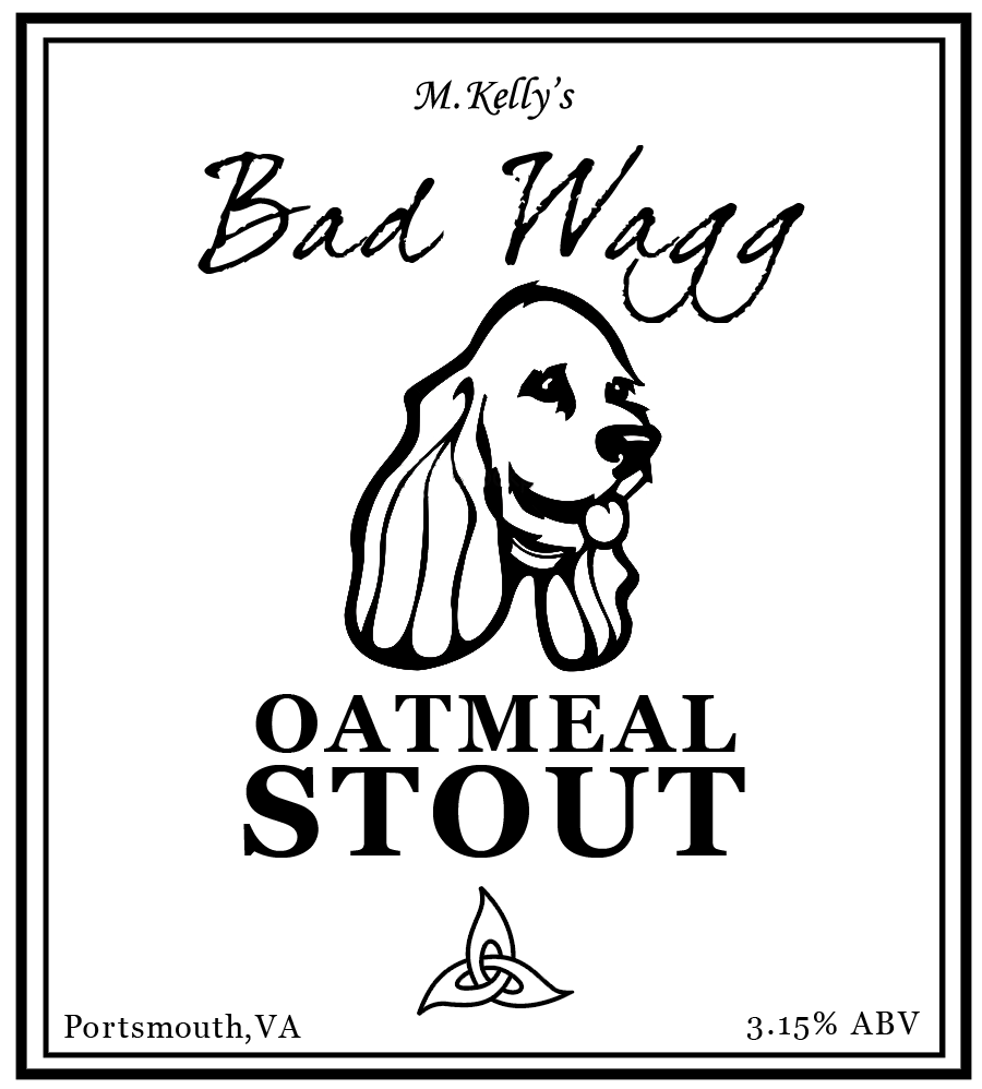 Bad Wagg Oatmeal Stout Label